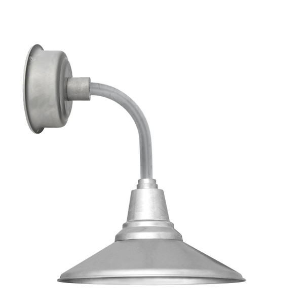 "12"" Calla LED Sconce Light with Trim Arm in Galvanized Silver"
