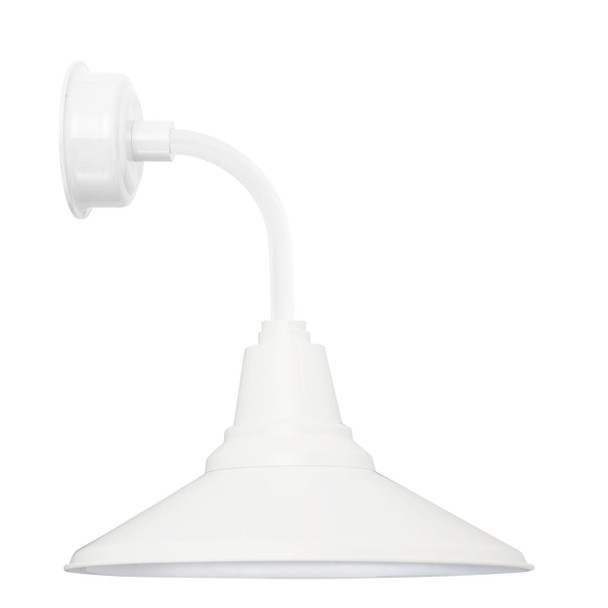 "12"" Calla LED Sconce Light with Trim Arm in White"