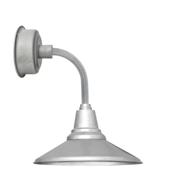 """14"""" Calla LED Sconce Light in Galvanized Silver with Trim Arm in Galvanized Silver"""