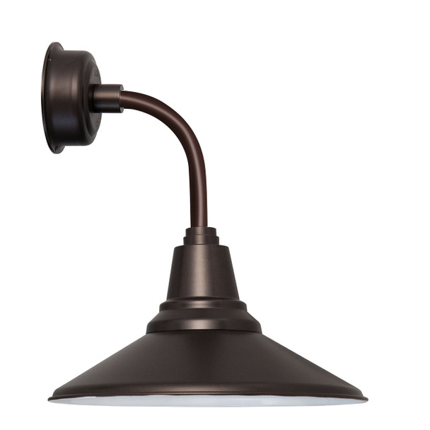 "14"" Calla LED Sconce Light with Trim Arm in Mahogany Bronze"