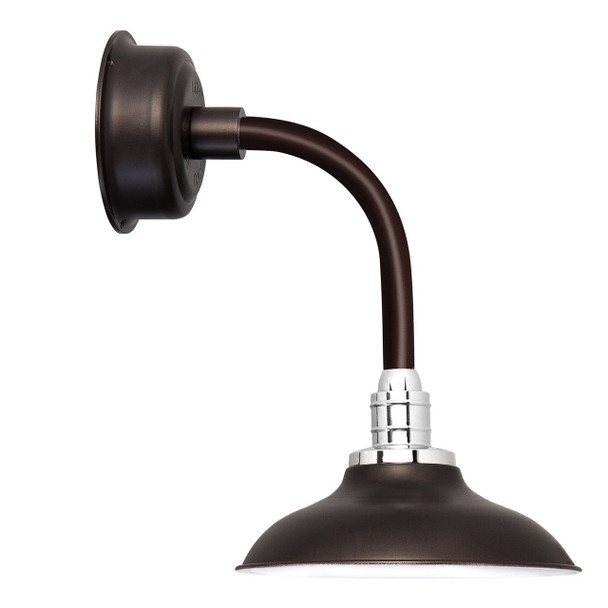 "10"" Peony LED Sconce Light with Trim Arm in Mahogany Bronze"