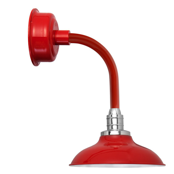 """10"""" Peony LED Sconce Light with Trim Arm in Cherry Red"""