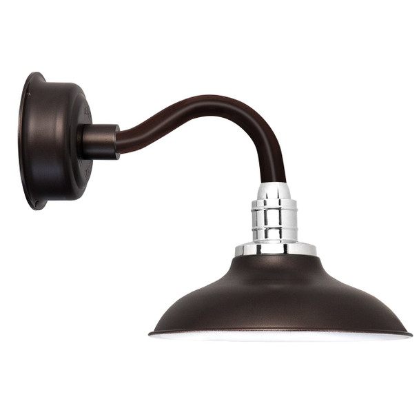 "10"" Peony LED Sconce Light with Chic Arm in Mahogany Bronze"