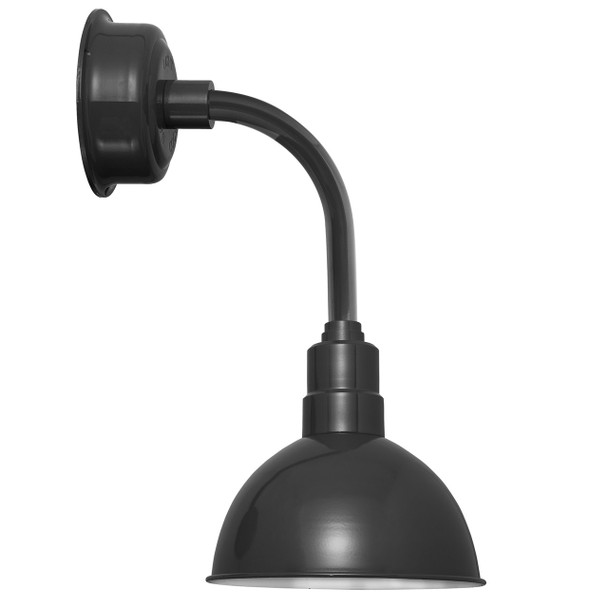 "10"" Blackspot LED Sconce Light with Trim Arm in Black"