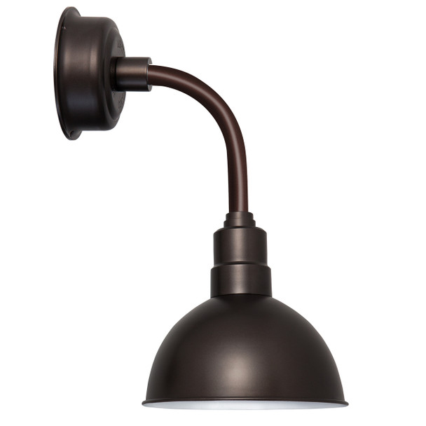 "10"" Blackspot LED Sconce Light with Trim Arm in Mahogany Bronze"