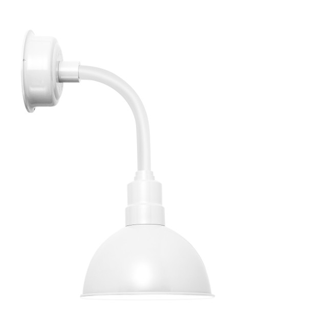 "10"" Blackspot LED Sconce Light with Trim Arm in White"