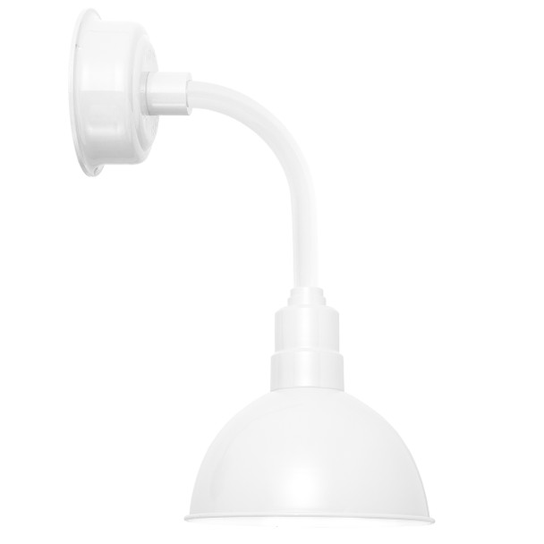 "12"" Blackspot LED Sconce Light with Trim Arm in White"