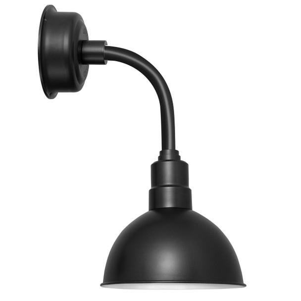 """14"""" Blackspot LED Sconce Light with Trim Arm in Matte Black"""