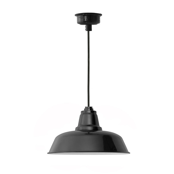 "16"" Goodyear LED Pendant Light in Black"