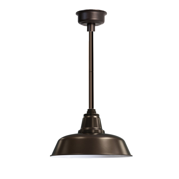 "14"" Goodyear LED Pendant Light in Mahogany Bronze with Mahogany Bronze Downrod"