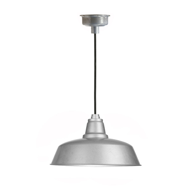 "16"" Goodyear LED Pendant Light in Galvanized Silver"