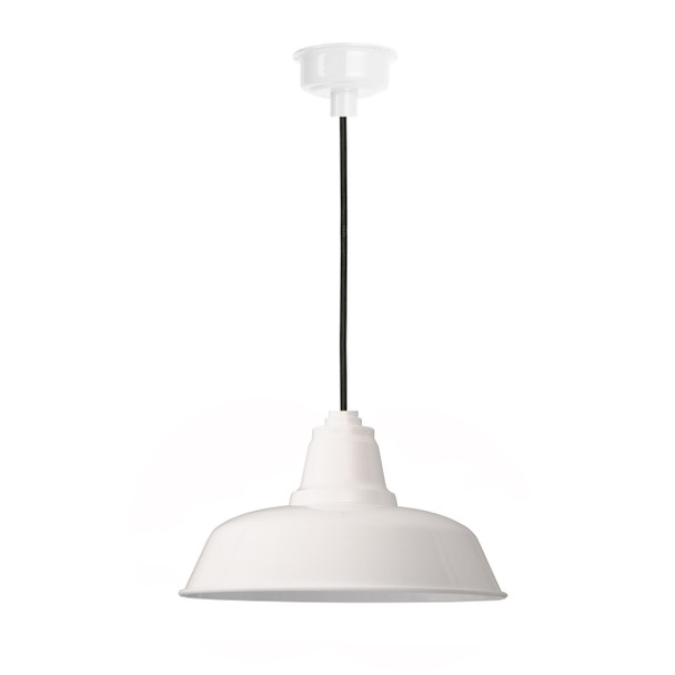 "10"" Goodyear LED Pendant Light in White"