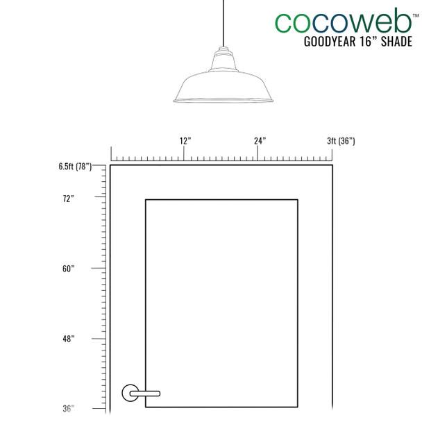 """16"""" Goodyear LED Pendant Light in White"""
