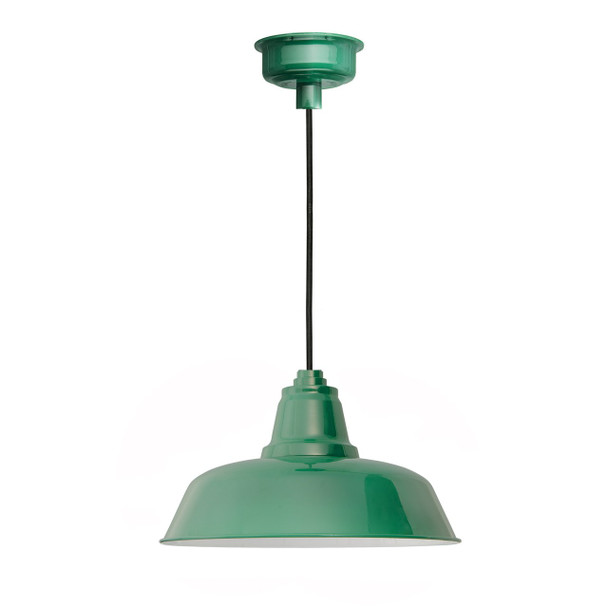 "10"" Goodyear LED Pendant Light in Vintage Green"