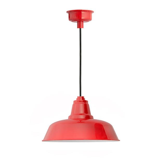 "12"" Goodyear LED Pendant Light in Cherry Red"