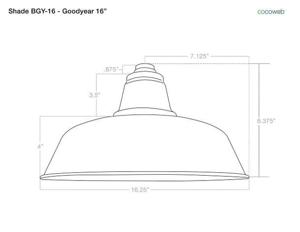 "16"" Goodyear LED Pendant Light in Cherry Red"