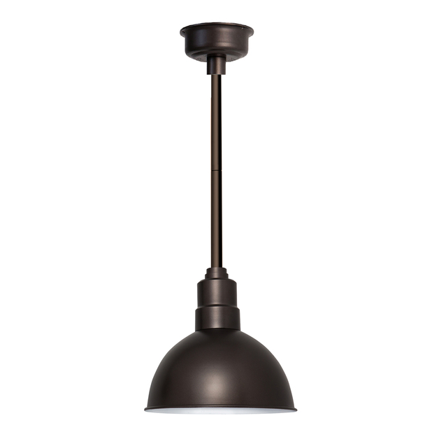 "10"" Blackspot LED Pendant Light in Mahogany Bronze with Mahogany Bronze Downrod"