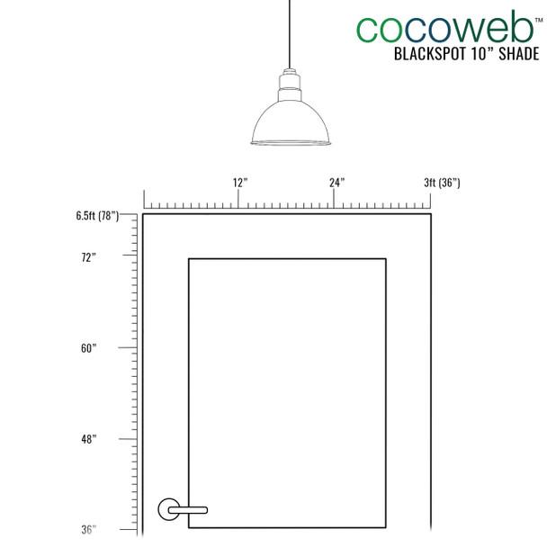 """Recommended Door Dimensions for 10"""" Blackspot LED Pendant Light in White"""
