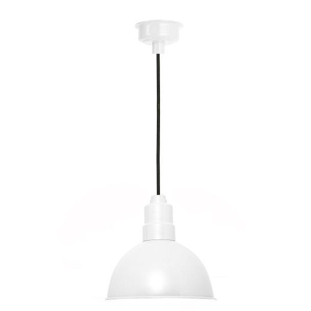 "12"" Blackspot LED Pendant Light in White"