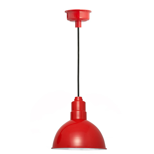 "10"" Blackspot LED Pendant Light in Cherry Red"