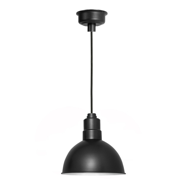 "12"" Blackspot LED Pendant Light in Matte Black"