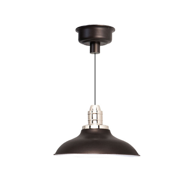 "10"" Peony LED Pendant Light in Mahogany Bronze"