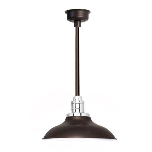 """12"""" Peony LED Pendant Light in Mahogany Bronze with Mahoganny Bronze Downrod"""