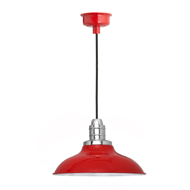"12"" Peony LED Pendant Light in Cherry Red"
