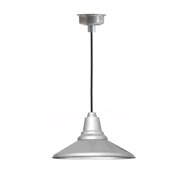 "16"" Calla LED Pendant Light in Galvanized Silver"