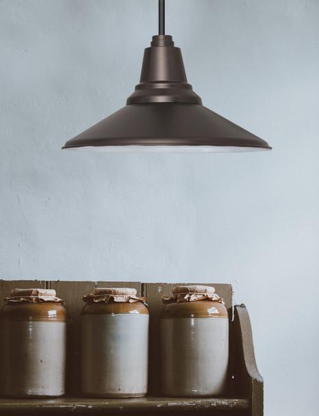 "12"" Calla LED Pendant Light in Mahogany Bronze Lifestyle 2"