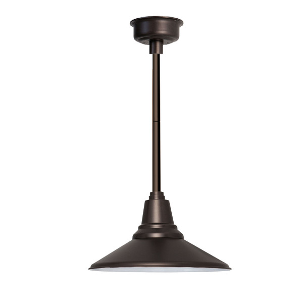 "16"" Calla LED Pendant Light in Mahogany Bronze with Mahogany Bronze Downrod"