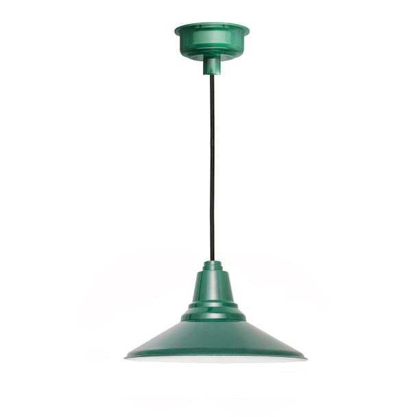"14"" Calla LED Pendant Light in Vintage Green"