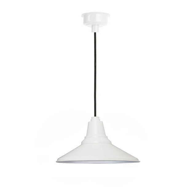 "18"" Calla LED Pendant Light in White"