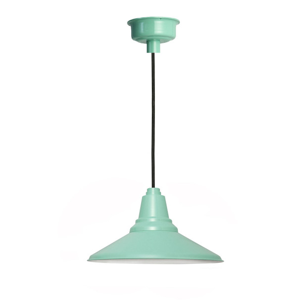 "18"" Calla LED Pendant Light in Jade"