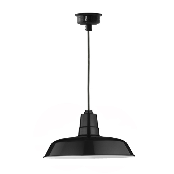 "22"" Oldage LED Pendant Light in Black"