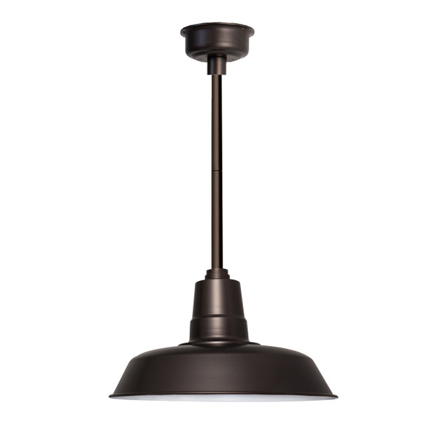 "14"" Oldage LED Pendant Light in Mahogany Bronze with Mahogany Bronze Downrod"