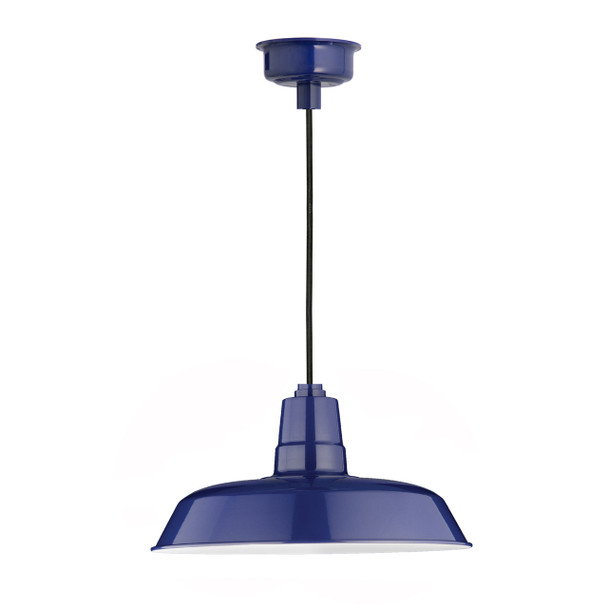 "14"" Oldage LED Pendant Light in Cobalt Blue"