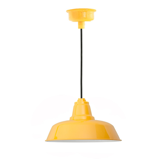 "12"" Goodyear LED Pendant Light in Yellow"