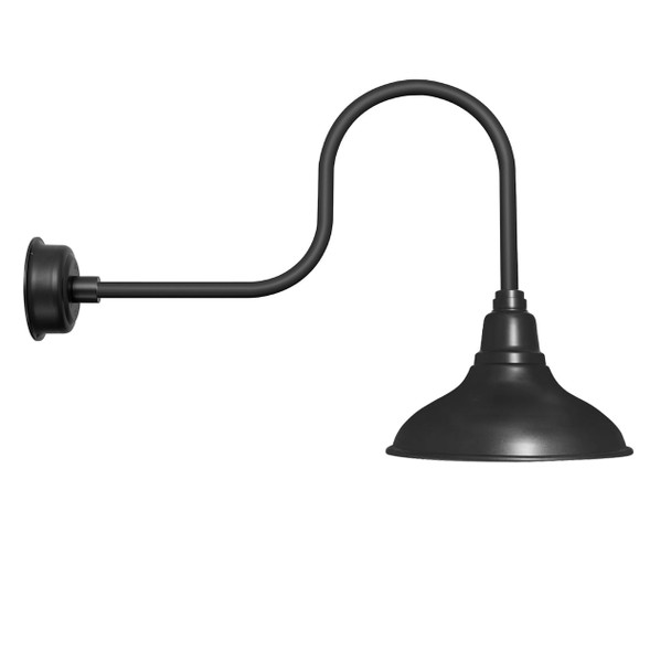 """8"""" Dahlia LED Barn Light with Indsutrial Arm in Matte Black"""