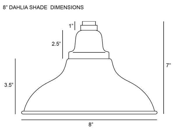 "8"" Dahlia LED Pendant Barn Light in Black with Galvanized Silver Downrod"