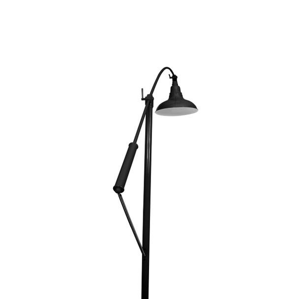 "8"" Dahlia LED Farmhouse Floor Lamp- Black Finish"