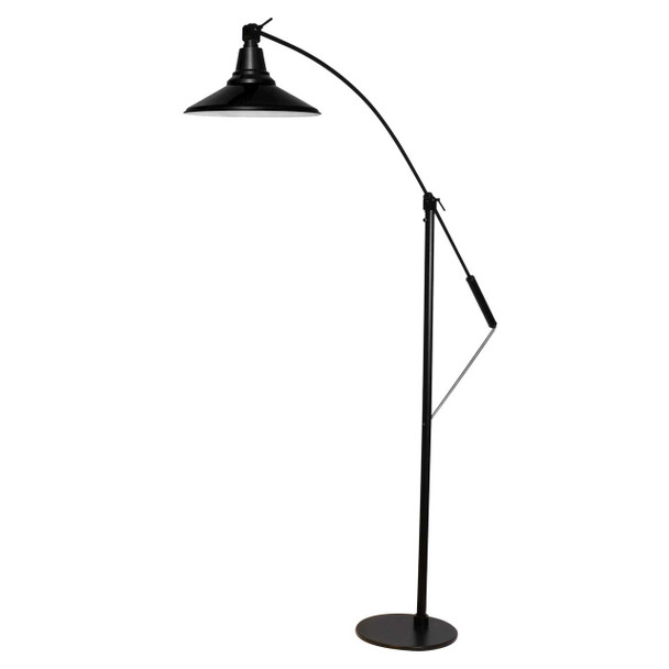 """Front View of 12"""" Calla LED High Power Floor Lamp- Black"""