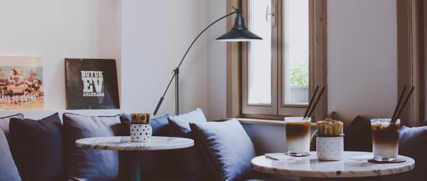 "12"" Calla LED High Power Floor Lamp - Black  Lifestyle 2"