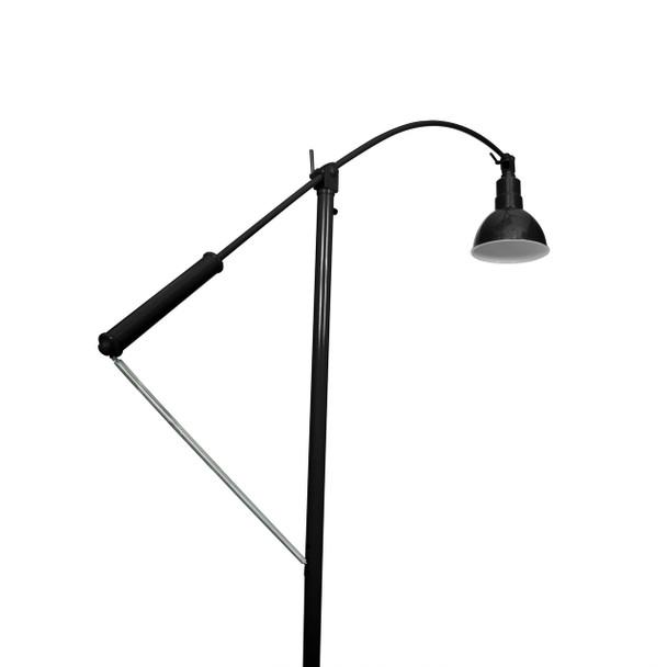 "8"" Blackspot Barn Floor Lamp- Black Finish"