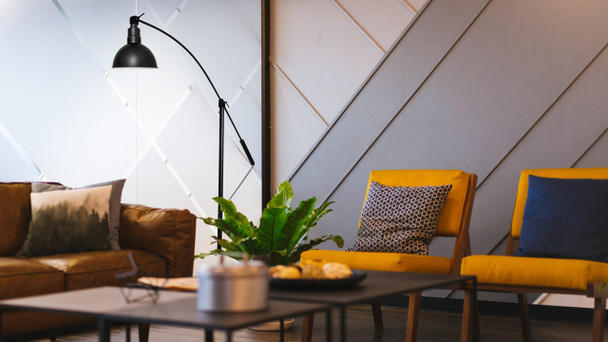 Black Blackspot Barn Floor Lamp Lifestyle 3