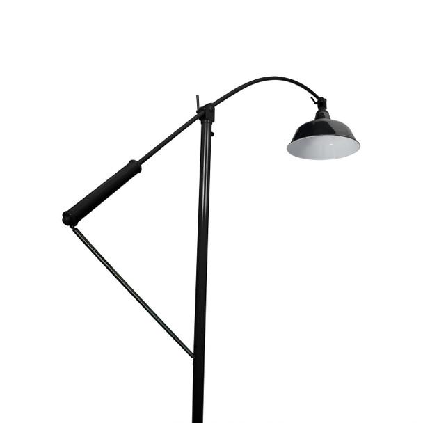 "Under View of 10"" Goodyear Adjustable Floor Lamp - Black"