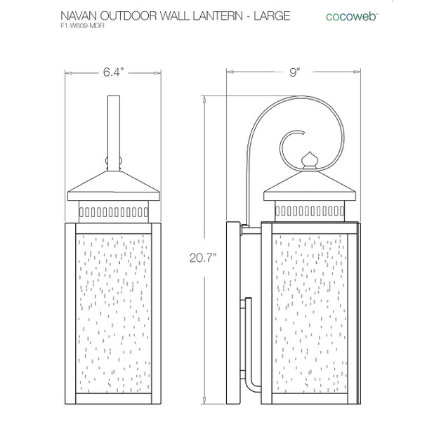 Navan Outdoor LED Wall Lantern - Large
