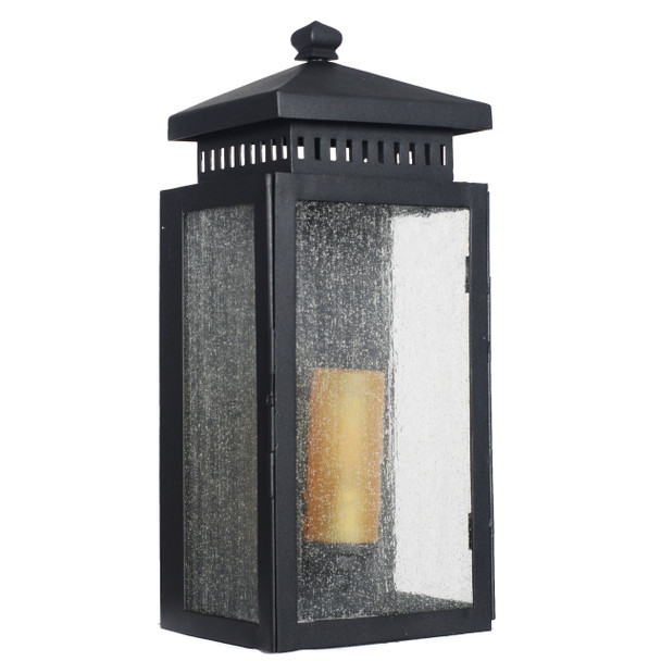 Navan Outdoor LED Wall Half Lantern - Large
