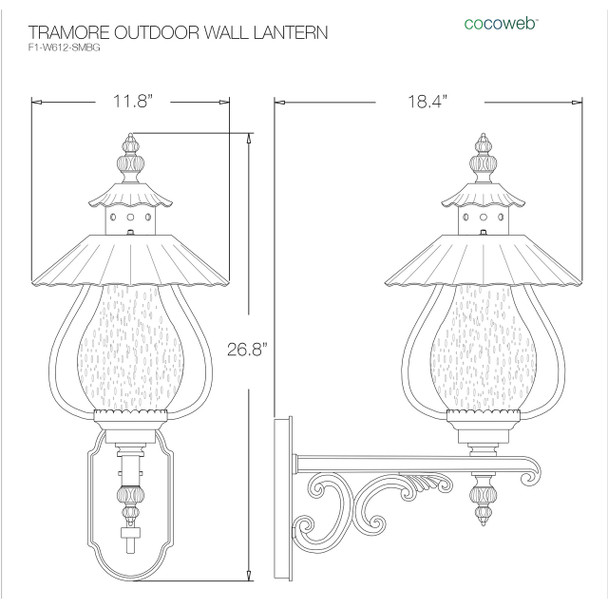 Tramore Outdoor LED Wall Lantern