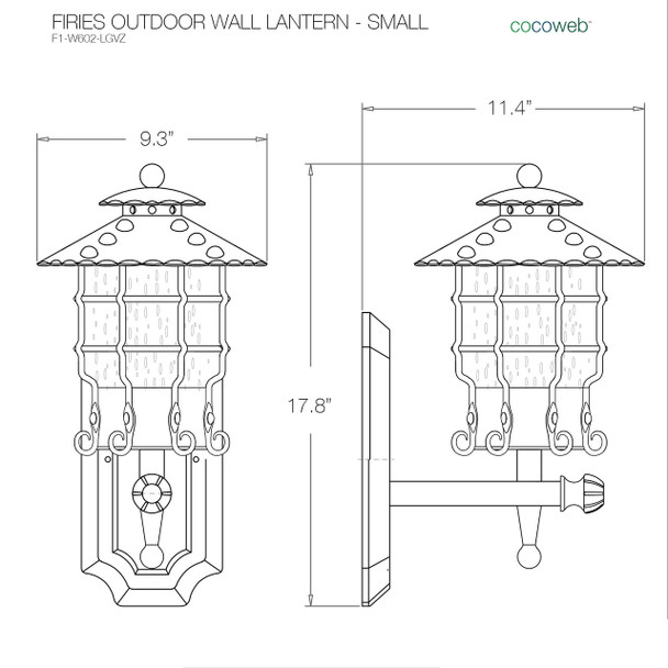 Firies Outdoor LED Wall Lantern - Small